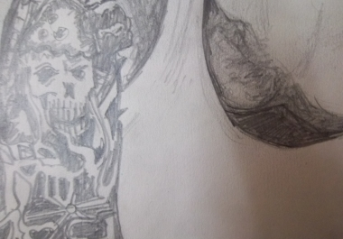 make your sketch with tatoos
