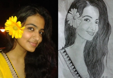 make a realistic pencil sketch/portrait of yours