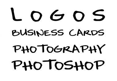 design any LOGO or Visiting card for you, or even I can professionally edit your photographs