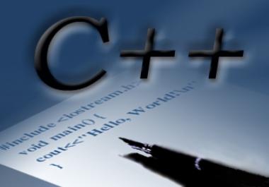 write any C++ program