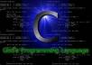 write any C program